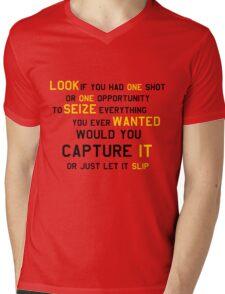 EMINEM MOTIVATIONNAL SHIRT BLACK&YELLOW Mens V-Neck T-Shirt