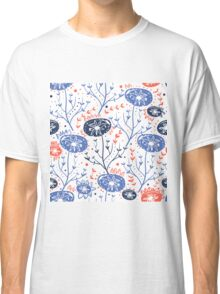 Floral pattern with folk motif Classic T-Shirt