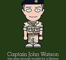 Captain John Watson (card) by redscharlach