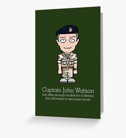 Captain John Watson (card) Greeting Card