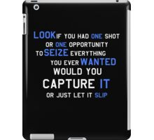 EMINEM MOTIVATIONNAL SHIRT WHITE&BLUE iPad Case/Skin