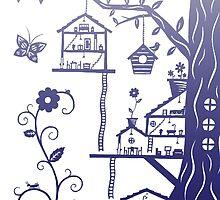 Mini Tree House Village  by Nicole Mule'