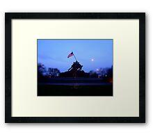 IWO JIMA War Statue Framed Print