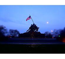 IWO JIMA War Statue Photographic Print
