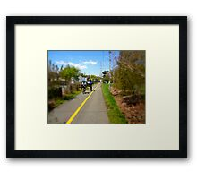 Bikers On A Trail Framed Print