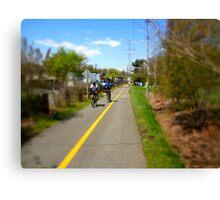 Bikers On A Trail Canvas Print