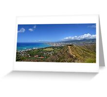 Lookout to Honolulu Greeting Card