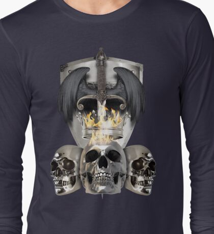 Metal Heads, Bikers and War - King and Lieutenants Long Sleeve T-Shirt