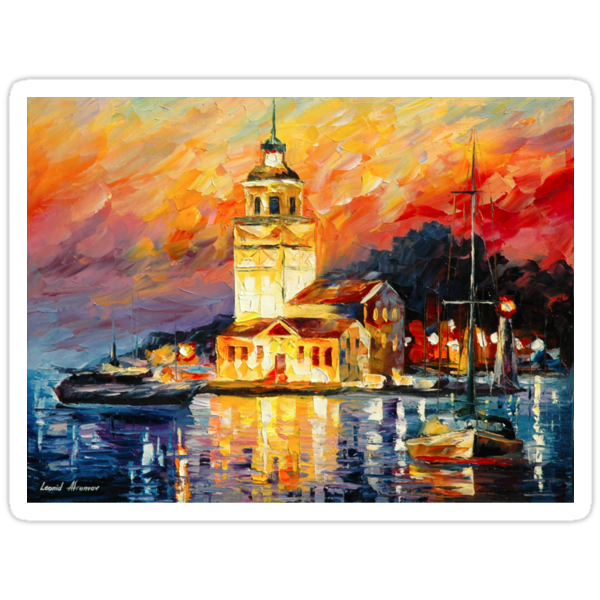 ROMANTIC HARBOR by Leonid  Afremov