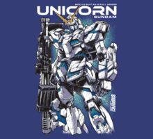 Unicorn Gundam T-Shirt by Snapnfit
