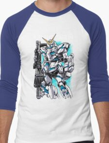 Unicorn Gundam T-Shirt Men's Baseball ¾ T-Shirt