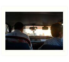 The Taxi Art Print