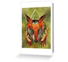 Fox Fingers Greeting Card
