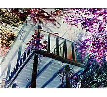 Broken Deck and Stairwell Nahalem Oregon Photographic Print