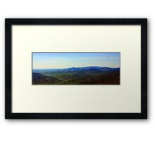 Shenandoah Valley in Early Spring, Panoramic Framed Print