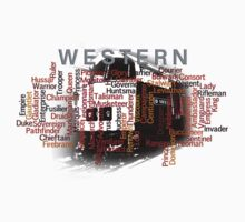 Class 52 Western Name Word Art Kids Clothes
