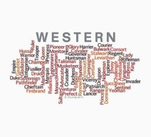 Western Names Word Art Kids Clothes