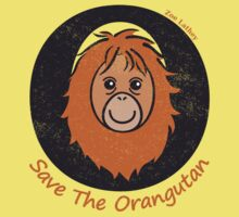 Save the Orangutan - distressed effect by zoel