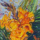 Orange Cannas by Deborah Glasgow