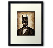 Batman + Abe Lincoln Mash Up Framed Print