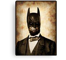 Batman + Abe Lincoln Mash Up Canvas Print