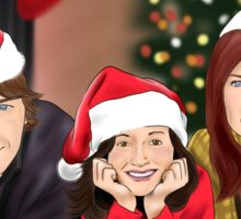Merry Christmas - Argent Family Sticker