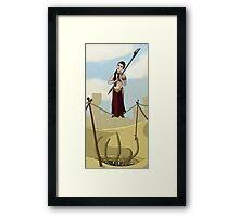 Princess Leia on the Wire Framed Print