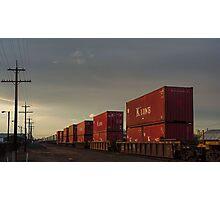 Dusk Train Photographic Print