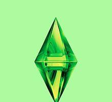Sims Plumbob Samsung Case by AlanaDZ