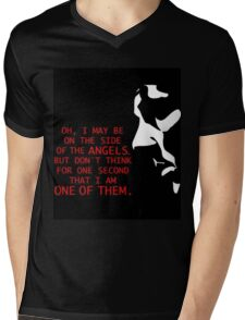 Sherlock's on the side of the Angels Mens V-Neck T-Shirt