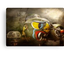 Plane - Pilot - Airforce - Dog Daize Canvas Print