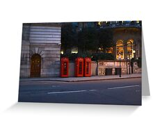 London Phoneboxes Greeting Card
