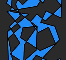 Blue/Black Abstract Phone Case by AlanaDZ