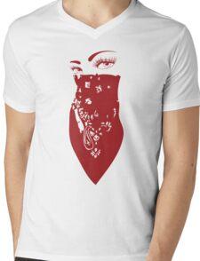 Red Bandana Girl Mens V-Neck T-Shirt