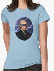 Cyclops + Thomas Jefferson Mash Up Womens Fitted T-Shirt