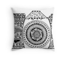 Click! Doodled Camera Throw Pillow