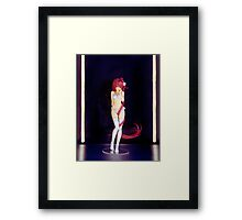 Cute sexy Japanese anime character figurine art photo print Framed Print