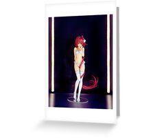 Cute sexy Japanese anime character figurine art photo print Greeting Card