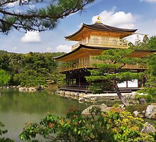 Temple of the Golden Pavilion Kinkaku-ji in Kyoto Japan art photo print by ArtNudePhotos