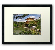 Temple of the Golden Pavilion Kinkaku-ji in Kyoto Japan art photo print Framed Print