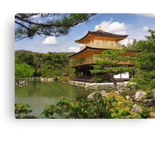 Temple of the Golden Pavilion Kinkaku-ji in Kyoto Japan art photo print Canvas Print