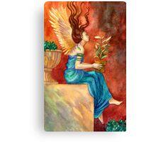 The Gardening Angel Canvas Print