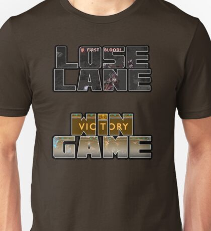 Lose Lane, Win Game - Please Like and Share Unisex T-Shirt