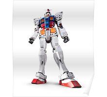 Gundam RX-78-2 statue isolated on white art photo print Poster