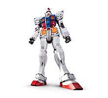Gundam RX-78-2 statue isolated on white art photo print Photographic Print