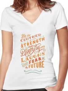 Proverbs 31 Women's Fitted V-Neck T-Shirt