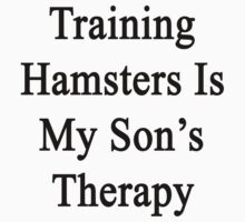 Training Hamsters Is My Son's Therapy  by supernova23