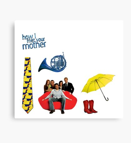HIMYM stickers Canvas Print