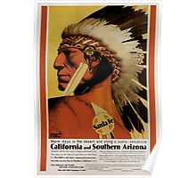 Vintage poster - California and Southern Arizona Poster