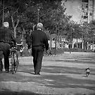 Walking the dog by Maria  Gonzalez